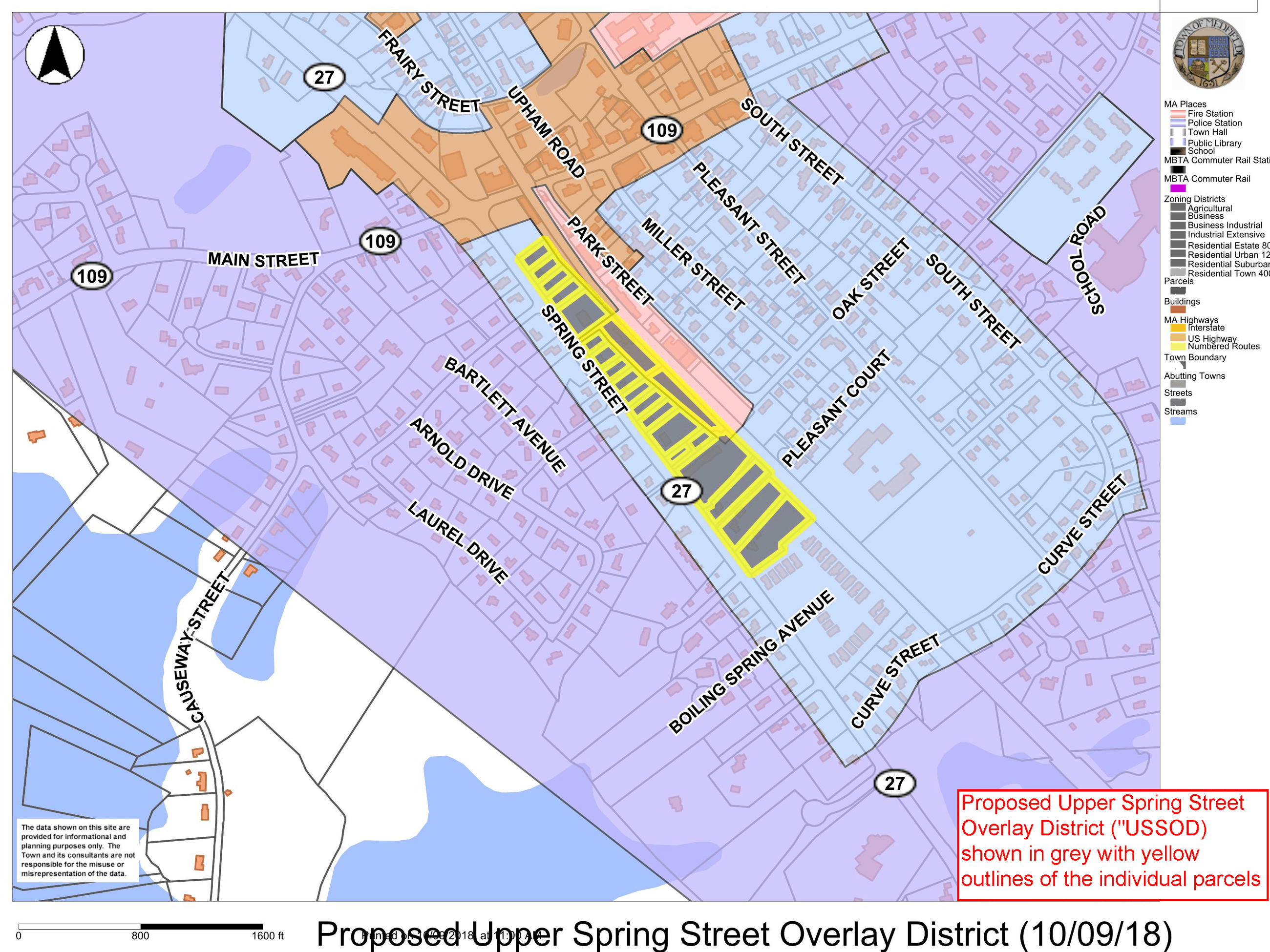 Proposed Upper Spring Street Overlay District Map - 10-09-18