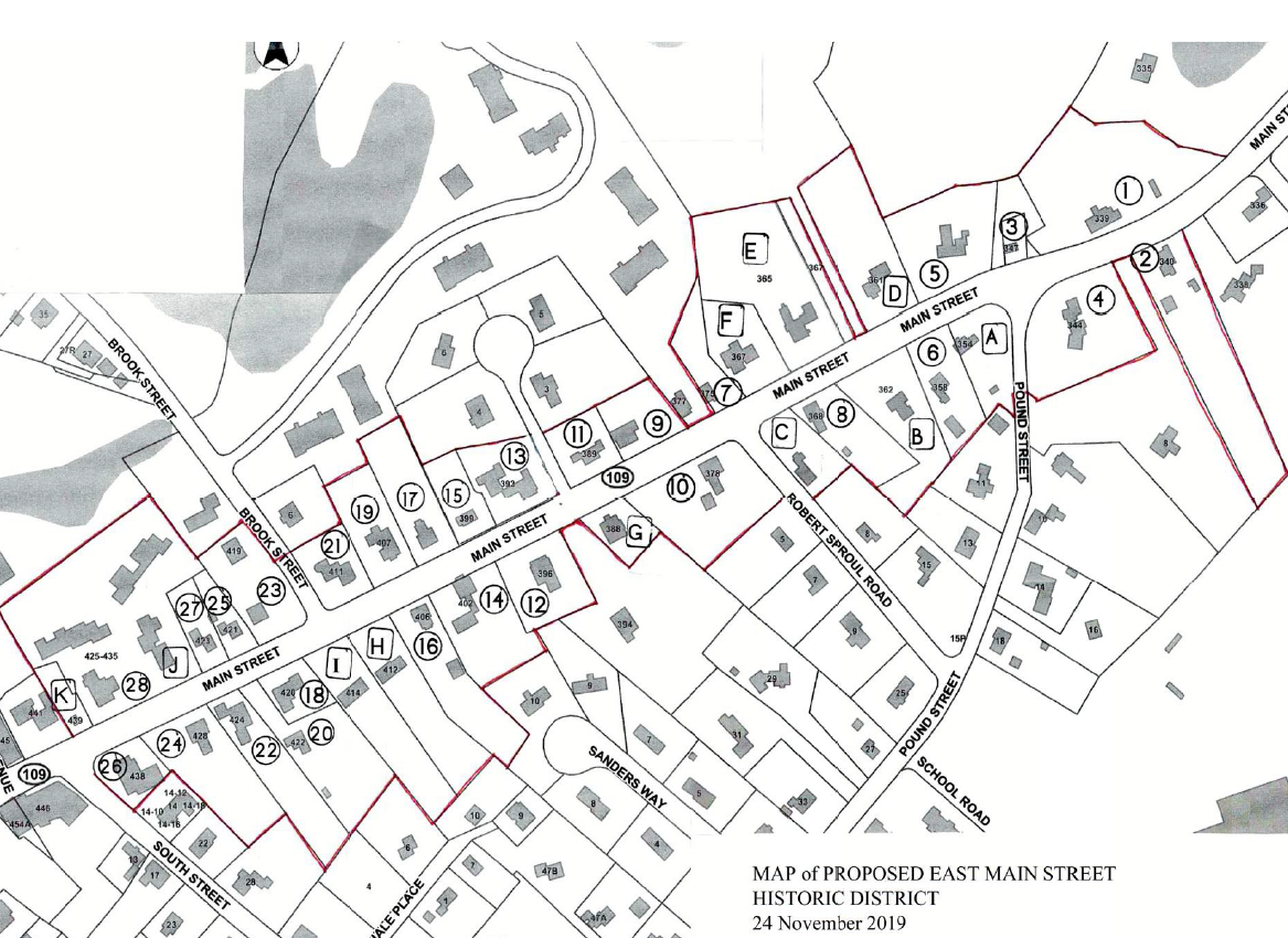 Map of Proposed Peak House Historic District 11-24-19