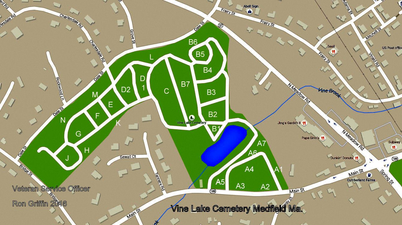 Vine Lake Cemetery Map