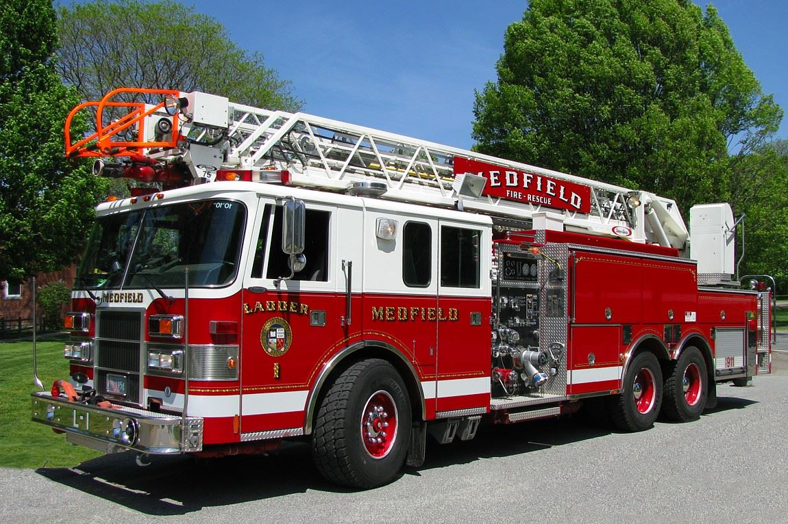 This is an image of Medfield Fire Department Engine 1